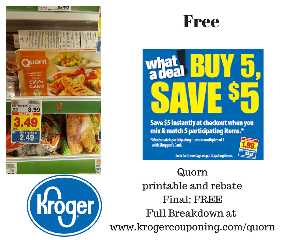 graphic relating to Kroger Printable Application known as No cost Quorn Meat Significantly less Products and solutions at Kroger! - Kroger Couponing