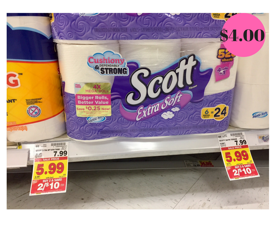Scott Extra Soft Toilet Paper Just 4 00 Kroger Couponing