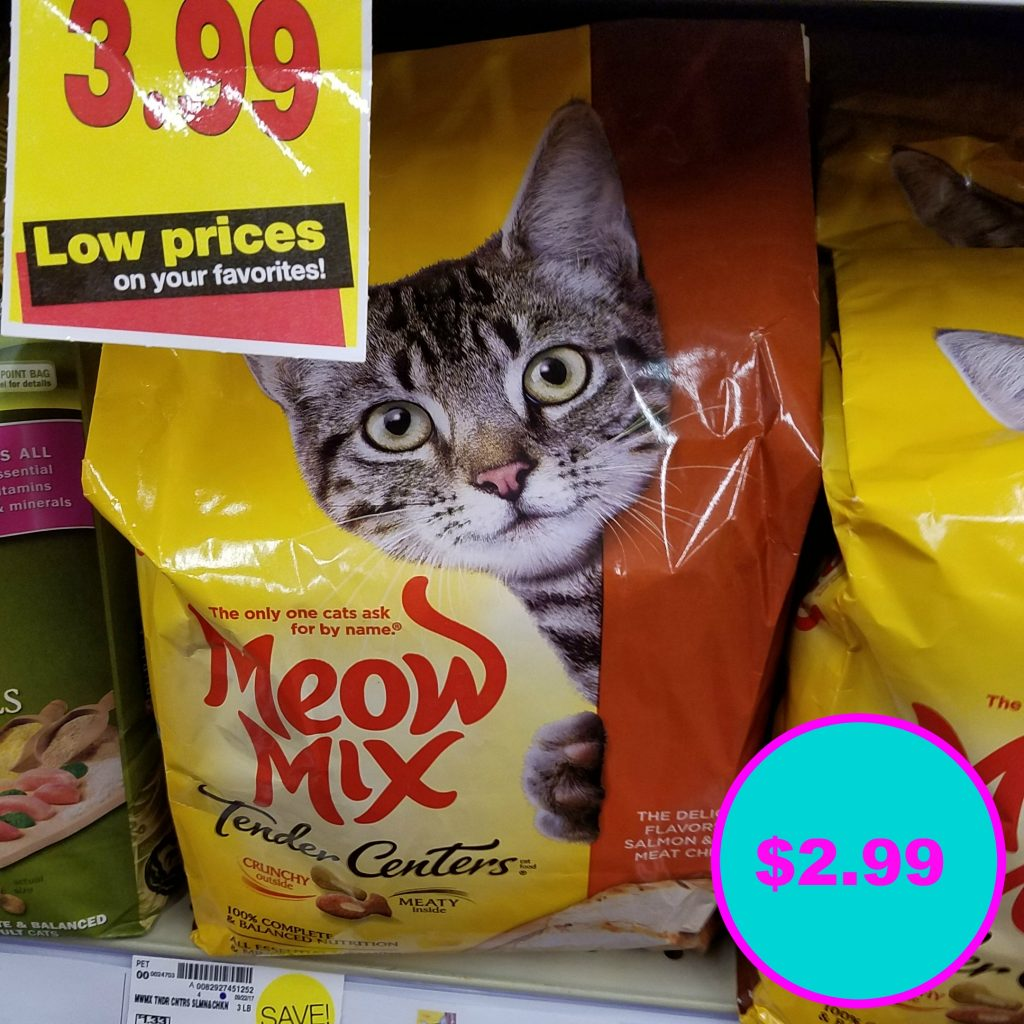 picture about Meow Mix Coupon Printable named Meow Blend merely $2.99 - Kroger Couponing