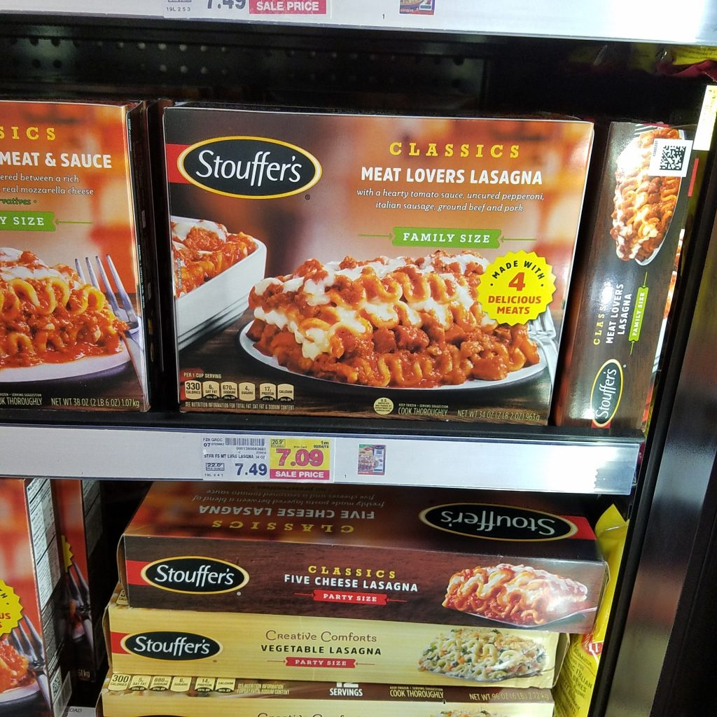 photograph about Stouffer Coupons Printable known as Stouffers Household Measurement particularly $6.09 - Kroger Couponing