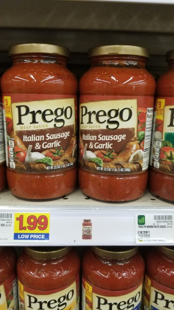 graphic about Prego Printable Coupons referred to as Fresh new Prego Pasta Sauce Coupon! - Kroger Couponing