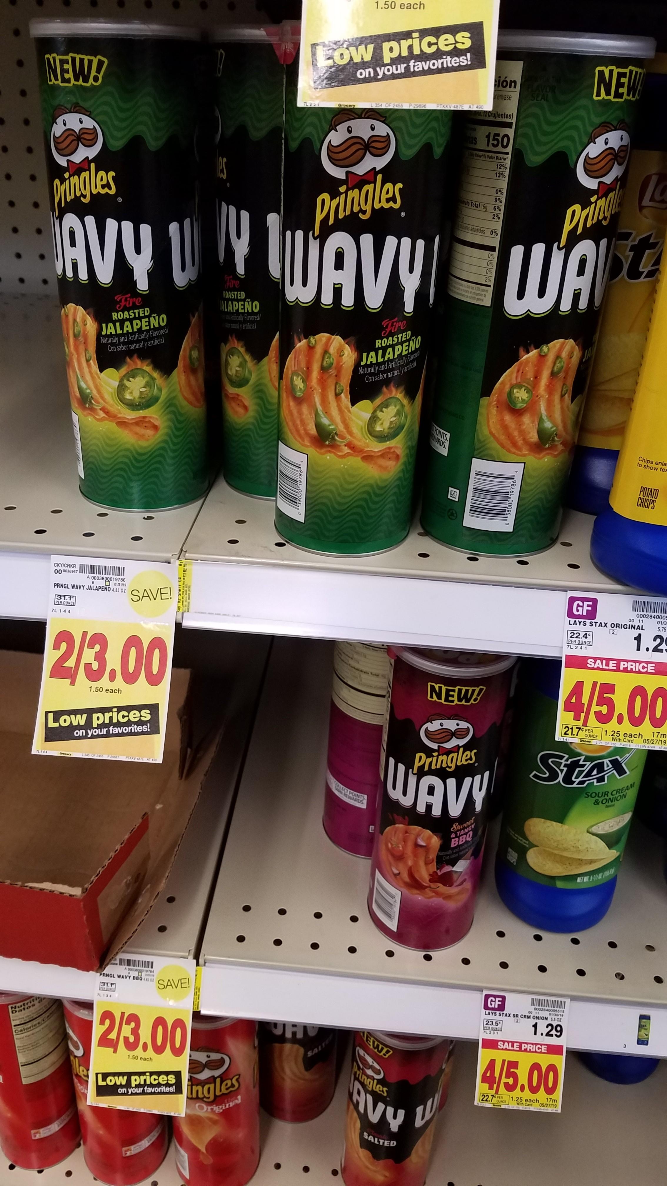 Pringles Wavy just $ 99 - Kroger Couponing